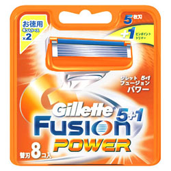【P&G】ジレット フュージョン5+1 パワー 替刃 8個入 ※お取り寄せ商品
